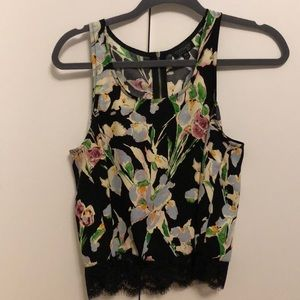 Tank top from TopShop floral